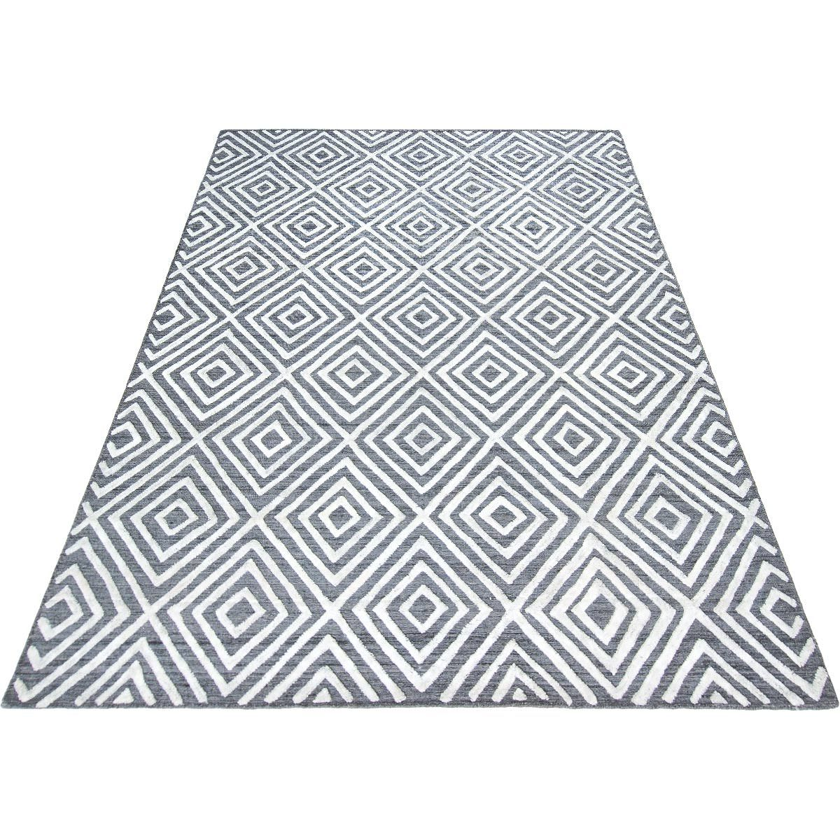 Zara Rug 01 Grey/White 6