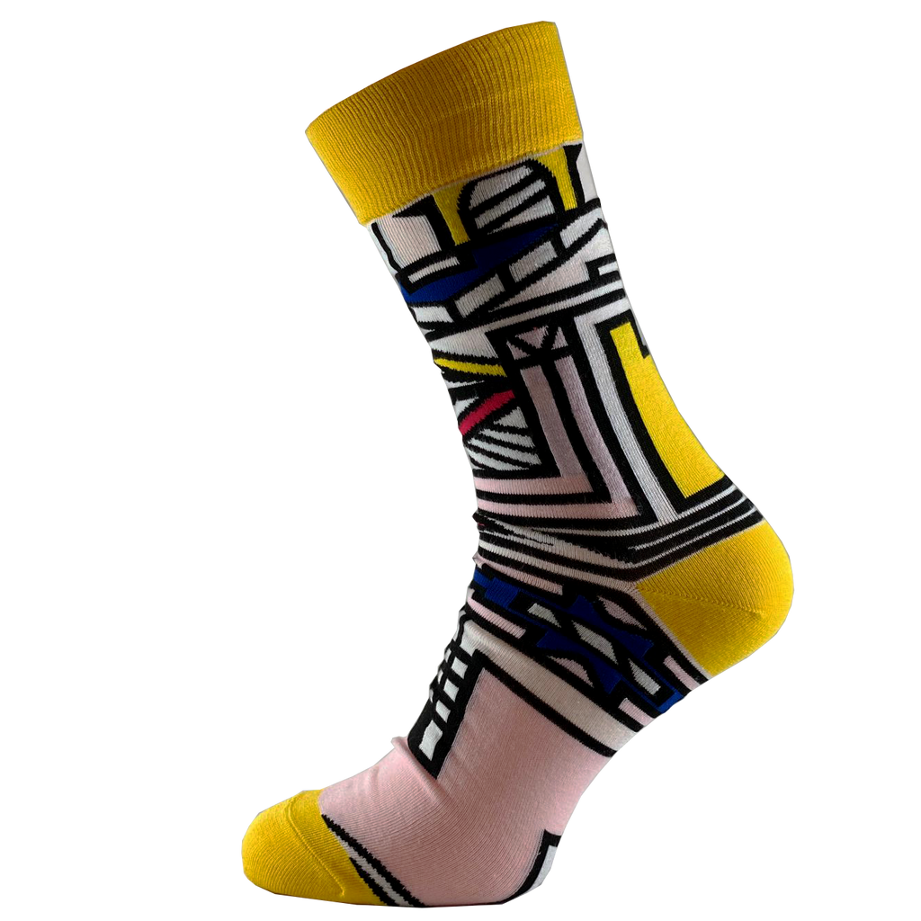 Smart Ndebele - African Print Unisex Cultural Fashion Socks - SMC Socks SA