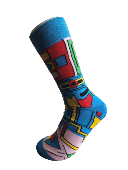 Ndebele - Sky Blue - SMC Socks SA