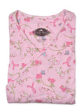 Mammography Top Roses and Ribbons - One Size