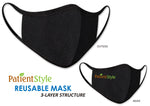3 Layer Fabric Mask Black