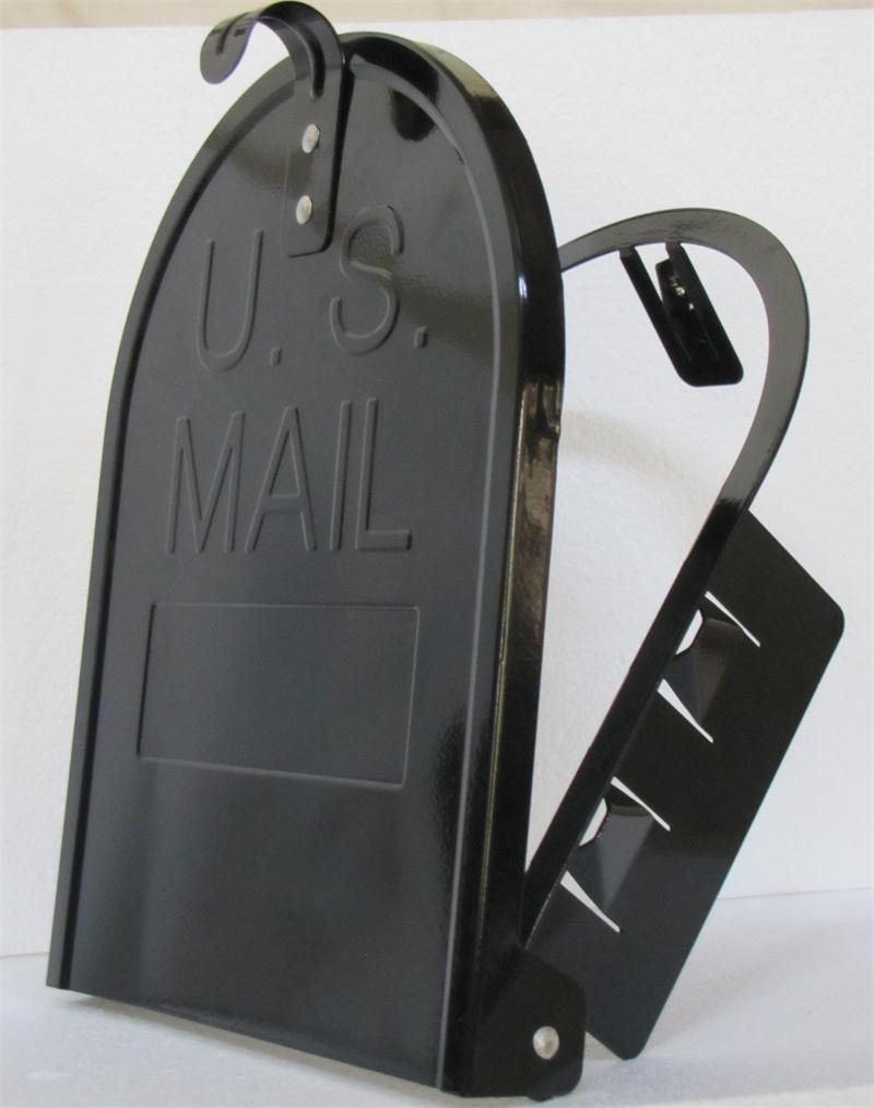 Large Mailbox Door Black