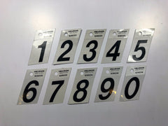 Silver and Black Italic Mailbox Numbers