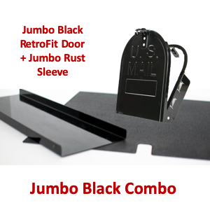 "Jumbo 11""(w) x 14""(h) Rust Sleeve and RetroFit Door Combo- Black"