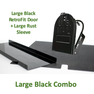 "8""(w) x 10""(h) Large Rust Sleeve and RetroFit Door Combo - Black"