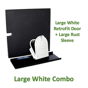 "8""(w) x 10""(h) Large Rust Sleeve and RetroFit Door Combo - White"
