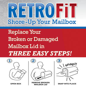 "Small 6 1/4""(w) x 8""(h) RetroFit Door and Universal Mailbox Flag Kit"