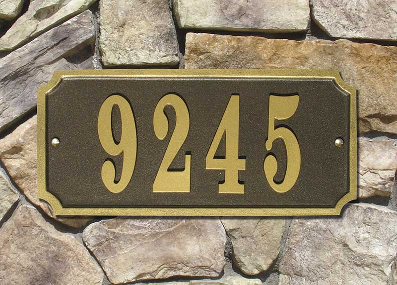 Waterford Rectangle Address Plaque- Bronze