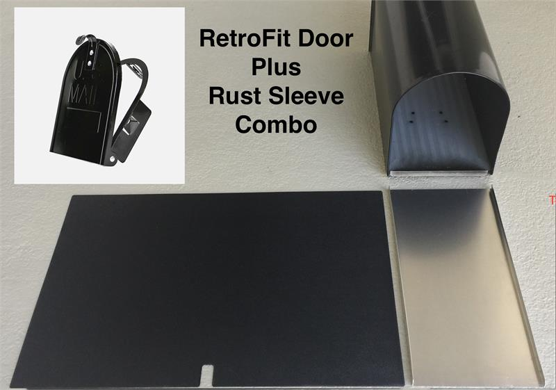 "6 1/4""(w) x 8""(h) Small Rust Sleeve and RetroFit Door Combo"