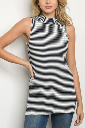 Navy Striped Tunic Tank