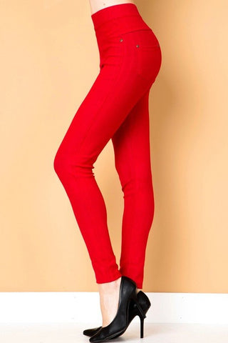 Red Sweet Stems Jeggings