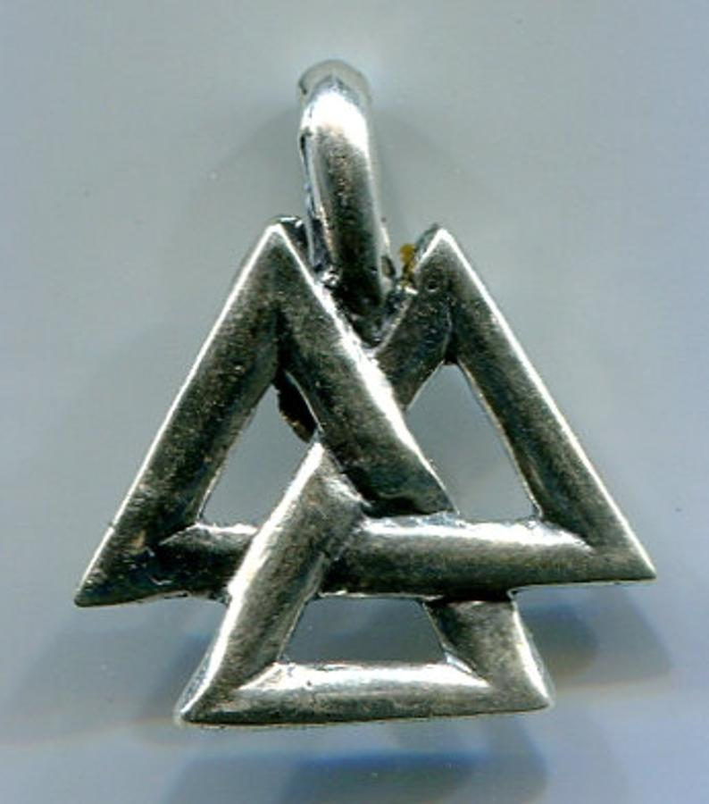 Jewelry - Open Valknut #5113 Silver or Bronze
