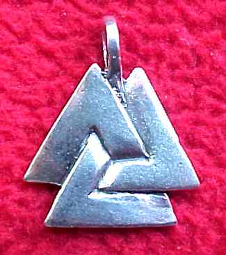 Jewelry - Closed Valknut #5114 Silver or Bronze