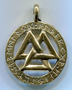 Jewelry - Valknot Futhark 5141 Silver and Bronze