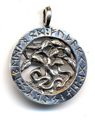 Jewelry - World Tree Furhark #5130 Silver Or Bronze
