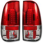 RECON 264172CL CHROME LED TAIL LIGHTS - sunny-diesel-performance