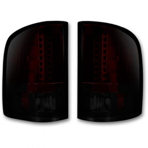 RECON 264175RBK DARK RED SMOKED OLED TAIL LIGHTS - sunny-diesel-performance