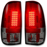RECON 264176RD RED LED TAIL LIGHTS - sunny-diesel-performance