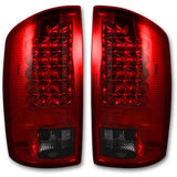 RECON 264179RD RED LED TAIL LIGHTS - sunny-diesel-performance