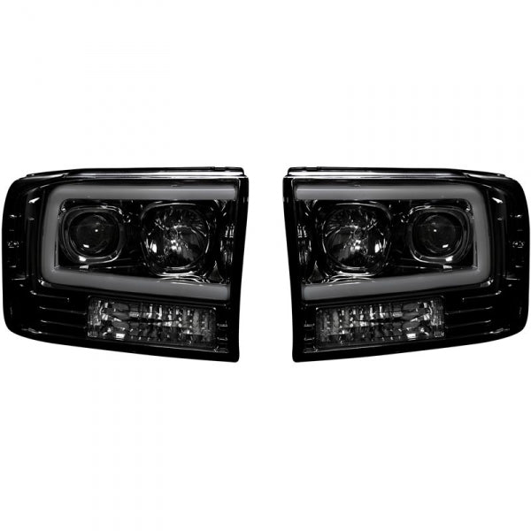 RECON 264192BKC SMOKED PROJECTOR HEADLIGHTS WITH OLED U-BAR - sunny-diesel-performance