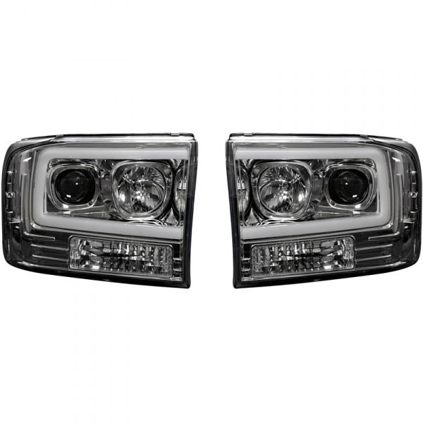 RECON 264192CLC CLEAR PROJECTOR HEADLIGHTS WITH OLED U-BAR - sunny-diesel-performance