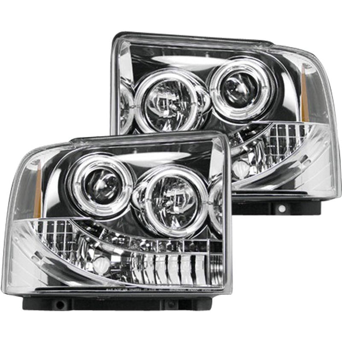 RECON 264193CL CLEAR PROJECTOR HEADLIGHTS WITH LED HALOS - sunny-diesel-performance