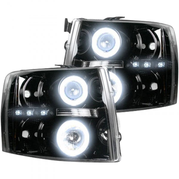 RECON 264195BKCC SMOKED PROJECTOR HEADLIGHTS WITH CCFL HALOS - sunny-diesel-performance