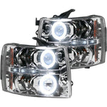 RECON 264195CLCC CLEAR PROJECTOR HEADLIGHTS WITH CCFL HALOS - sunny-diesel-performance