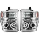 RECON 264196CL CLEAR PROJECTOR HEADLIGHTS WITH LED HALOS - sunny-diesel-performance