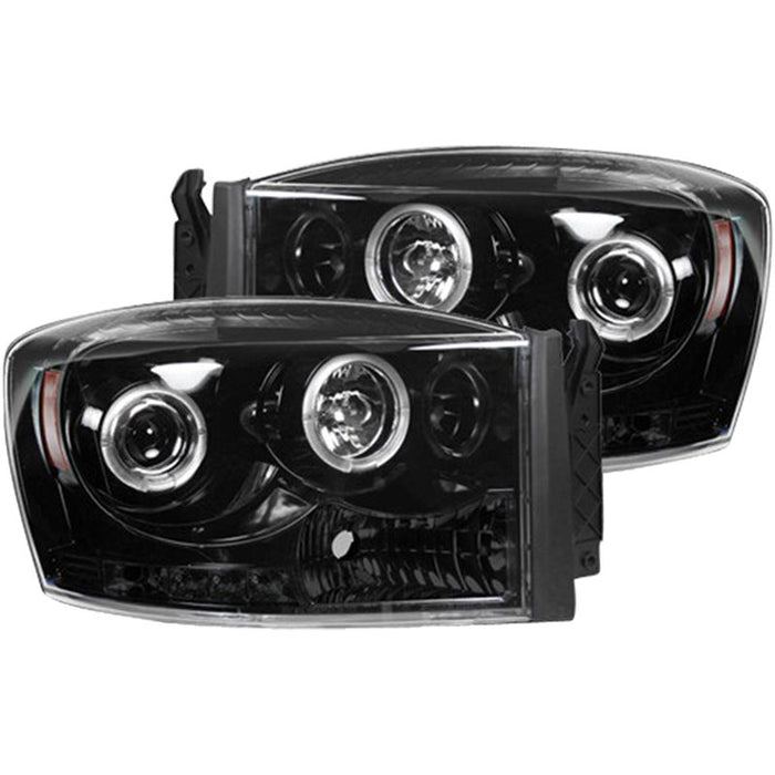 RECON 264199BKCC SMOKED PROJECTOR HEADLIGHTS WITH CCFL HALOS - sunny-diesel-performance