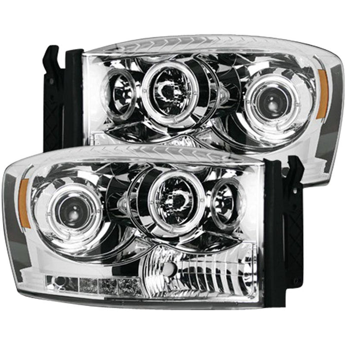 RECON 264199CLCC CLEAR PROJECTOR HEADLIGHTS WITH CCFL HALOS - sunny-diesel-performance