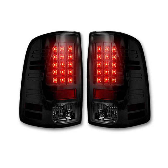 RECON 264236BK SMOKED LED TAIL LIGHTS - sunny-diesel-performance