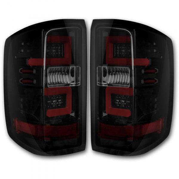 RECON 264238BK SMOKED OLED TAIL LIGHTS - sunny-diesel-performance