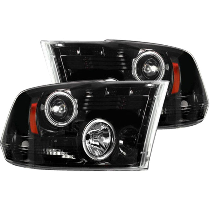 RECON 264270BKCC SMOKED PROJECTOR HEADLIGHTS WITH CCFL HALOS - sunny-diesel-performance