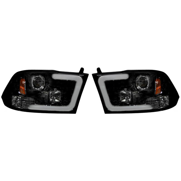 RECON 264270BKC SMOKED PROJECTOR HEADLIGHTS WITH OLED U-BAR - sunny-diesel-performance