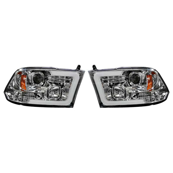 RECON 264270CLC CLEAR PROJECTOR HEADLIGHTS WITH OLED U-BAR - sunny-diesel-performance