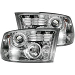 RECON 264270CL CLEAR PROJECTOR HEADLIGHTS WITH LED HALOS - sunny-diesel-performance