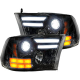 RECON 264276BKC SMOKED PROJECTOR HEADLIGHTS WITH OLED DRL - sunny-diesel-performance