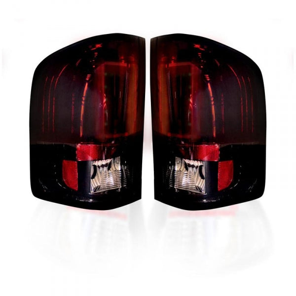 RECON 264291RBK DARK RED SMOKED OLED TAIL LIGHTS - sunny-diesel-performance