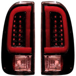 RECON 264292RBK DARK RED SMOKED OLED TAIL LIGHTS - sunny-diesel-performance