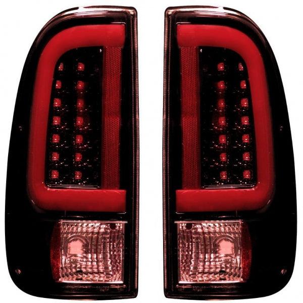 RECON 264293RBK DARK RED SMOKED OLED TAIL LIGHTS - sunny-diesel-performance