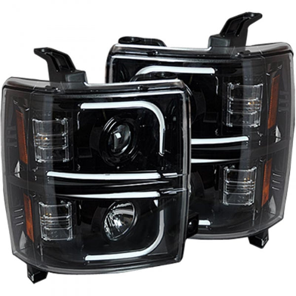 RECON 264296BKC SMOKED PROJECTOR HEADLIGHTS WITH OLED U-BAR - sunny-diesel-performance