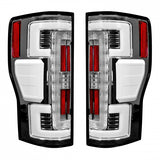 RECON 264299LEDCL DUAL U-BAR CLEAR LENS OLED TAIL LIGHTS - sunny-diesel-performance