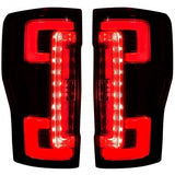 RECON 264299LEDRBK DUAL U-BAR DARK RED LENS OLED TAIL LIGHTS - sunny-diesel-performance