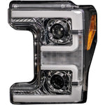 RECON 264372CLC CHROME HEADLIGHTS WITH SCANNING SIGNALS & OLED DRL - sunny-diesel-performance