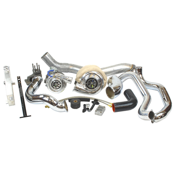 INDUSTRIAL INJECTION 422407 RACE COMPOUND TURBO KIT - sunny-diesel-performance