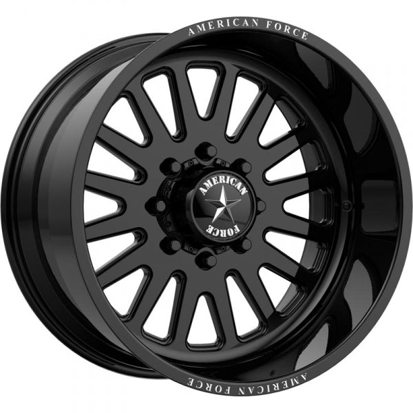 AMERICAN FORCE ATOM SS FORGED WHEEL - BLACK - sunny-diesel-performance