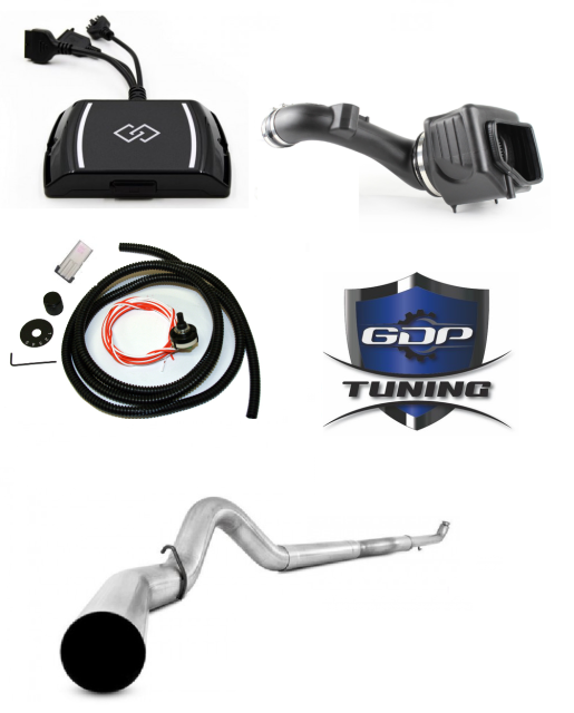 GDP SOTF EZ LYNK 2.0 RACE PACKAGE 5IN EXHAUST INTAKE 2011-2016 6.6L LML - sunny-diesel-performance