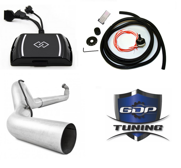 GDP Tuning EZ LYNK 2 5in Exhaust No Muffler For 2010-2012 Ram 6.7L Cummins - sunny-diesel-performance