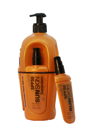 SUNSKIN SUNSCREEN SPF 50 500ml Pack